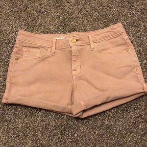 Mossimo Rose Gold Mid-Rise Shorts